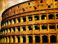 The Roman coliseum Stock Images