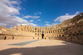 Roman coliseum in tunisia ancient colosseum Royalty Free Stock Photos