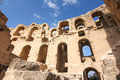 Roman coliseum in tunisia ancient colosseum Royalty Free Stock Image