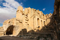 Roman coliseum in tunisia ancient colosseum Royalty Free Stock Photography