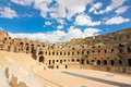 Roman coliseum in tunisia ancient colosseum Royalty Free Stock Photo