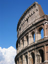 Roman colosseum close up Stock Image