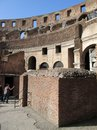 Roman Colosseum Italy Europe amphitheater from the time of the Roman Empiren View from inside Europe Royalty Free Stock Photo