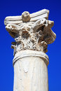 Roman column at the paphos archaelogical park cyprus Royalty Free Stock Images