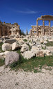 Roman Columns at Baalbeck, Lebanon Stock Photography