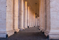 Roman columns close up of on st peter s square in the vatican Royalty Free Stock Photography