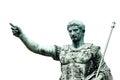 Roman emperor bronze statue isolated on white Royalty Free Stock Photo