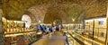 Roman emperor diocletian palace catacombs in split croatia march dalmatia croatia panoramic view s is Stock Photography