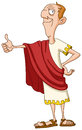 Roman emperor with thumb up Royalty Free Stock Photo
