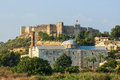 Roman fortress in selcuk beautiful view of at ayasoluk hill town turkey Stock Photography