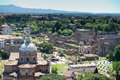 Roman forum ancient in rome italy Royalty Free Stock Photography