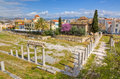 Roman forum and Fethiye Mosque, Athens, Greece Stock Photos