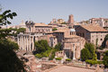 Roman forum the in rome italy Royalty Free Stock Photos