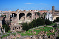 Roman Forum in Rome (Italy) Stock Photo