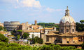 Roman forum rome view from the palatine hill at in italy Stock Photos