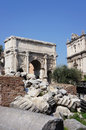Roman forum the ruins of the in italy Royalty Free Stock Images