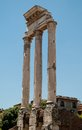 Roman Forum. Temple of Castor and Pollux Stock Photography