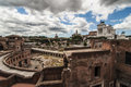 Roman forum view of in roma italy Stock Images