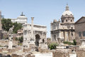 Roman forum view of the in rome europe Royalty Free Stock Images
