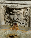 Roman fountain detail. Royalty Free Stock Image