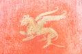 Roman Fresco in Pompeii, Italy. Royalty Free Stock Photo