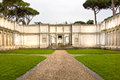 Roman garden ancient in rome italy Stock Photo