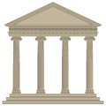 Roman greek temple with ionic columns high detailed Stock Photos