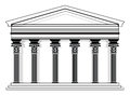 Roman/Greek Vector Pantheon temple Royalty Free Stock Photo