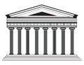 Roman/Greek Vector Pantheon temple with Doric columns Royalty Free Stock Photo
