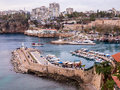 Roman harbour in antalya turkey overview of the harbor kaleiçi the historic quarter of Stock Photos