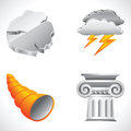 Roman icons set of vector ancient objects Stock Images