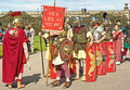 Roman Legion. Stock Photo
