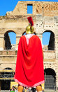 Roman legionary rome italy september in ancient armour in front of the colosseum in rome italy it has been estimated that over Stock Photography