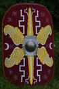 Roman Legionary Shield Royalty Free Stock Photo