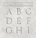 Roman letters chiseled in marble stone.