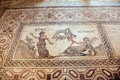 Roman mosaic in paphos cyprus details of Royalty Free Stock Image