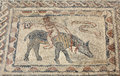 Roman mosaic in volubilis ancient morocco north africa Royalty Free Stock Photography