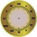 Roman Numeral Clock Royalty Free Stock Photo