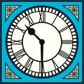 Roman Numeral Clock at Half Past Ten Royalty Free Stock Photo