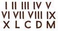 Roman numerals out of coffee Royalty Free Stock Photo