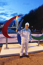 Roman osin rosa khutor sochi russia mar party relay of the paralympic flame head of the communication service of the organizing Stock Image