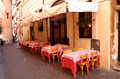 Roman restaurant typical in central rome italy photograph taken on october Stock Photos