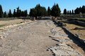 Roman road, Italica, Spain. Royalty Free Stock Images