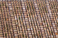 Roman roof tiles traditional ceramic in rome Stock Image