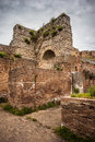 Roman ruins ancient of a amphitheater located in benevento italy Royalty Free Stock Photo