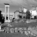 Roman ruins ancient in rome centre italy Royalty Free Stock Photos