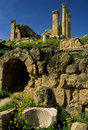 Roman ruins in Jerash Royalty Free Stock Photo