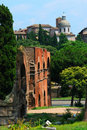 Roman ruins in Rome Royalty Free Stock Images