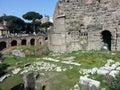 Roman ruins, Rome Italy Royalty Free Stock Photo