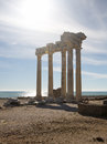Roman ruins temple apollo side turquoise coast antalya province turkey Royalty Free Stock Photography